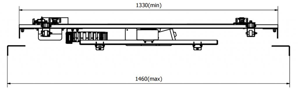 Sabaj Tv - Hiss / Lift 95cm med rotation och lucköppnare monterad