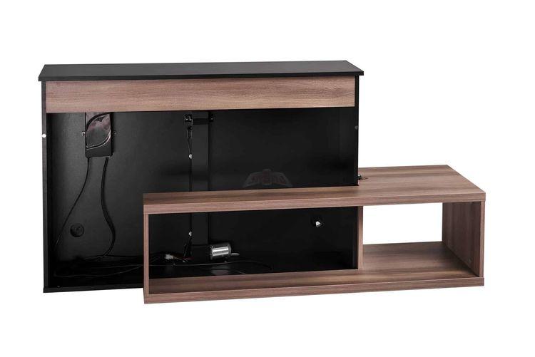 TV-möbel med inbyggd TV-HISS Svart