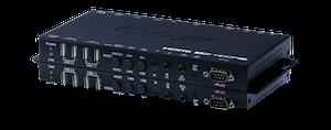 HDMI eller VGA över IP mottagare med USB, 4K, HDCP2.2, PoE, CEC