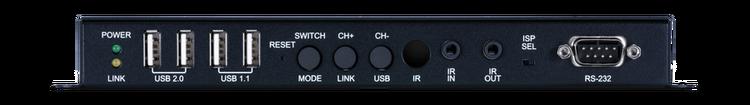 CYP/// HDMI eller VGA över IP mottagare med USB, 4K, HDCP2.2, PoE, CEC