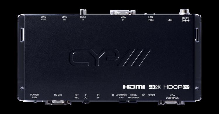 CYP/// HDMI eller VGA över IP sändare med USB, 4K, HDCP2.2, PoE, CEC