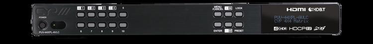 CYP/// HDMI till HDBaseT Matris med 4 mott, HDCP 2.2, 4K HDR