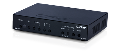 CYP/// Presentations switch och scaler med HDMI, DP & VGA in