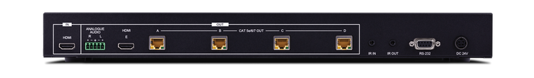 CYP/// HDMI - HDBaseT Lite splitter, 1:4+1, AVLC, Audio De-embedd
