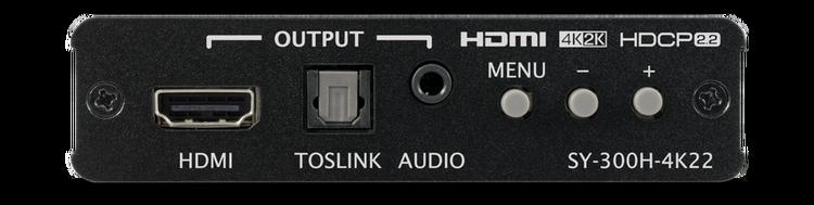 CYP/// HDMI till HDMI scaler med (De)+Embedding av ljud