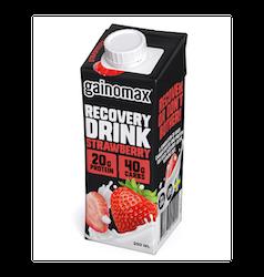 16 x Gainomax Recovery Drink - Strawberry 250 ml