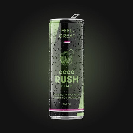 "12 X Feel Great Coco ""Rush"" - Lime 250 ml"