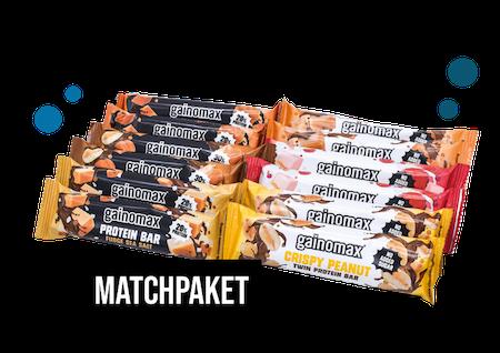 Matchpaket - Gainomax Protein Bars