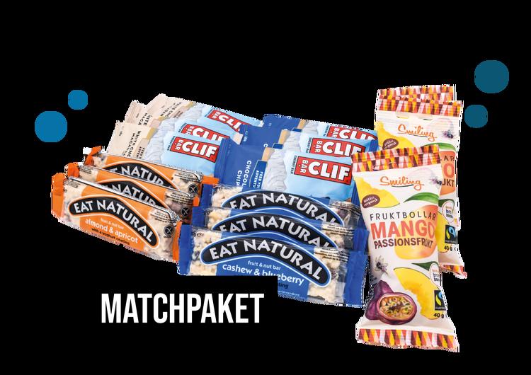 Matchpaket - Clif, Eat Natural & Smiling Fruktbollar