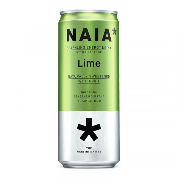 12 x Naia* Sparkling Energy Drink - Lime 330 ml