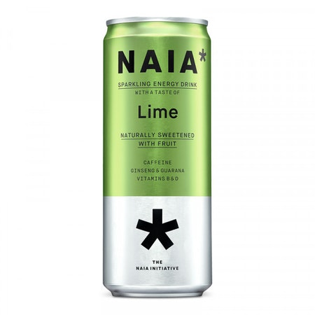 12 x Naia* Sparkling Energy Drink - Lime 330 ml