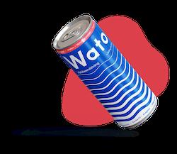24 x Wato vätskeersättning - Hallon 330 ml