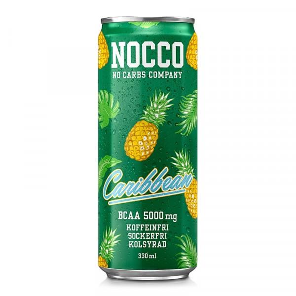 24 x NOCCO BCAA+ - Caribbean Koffeinfri 330 ml