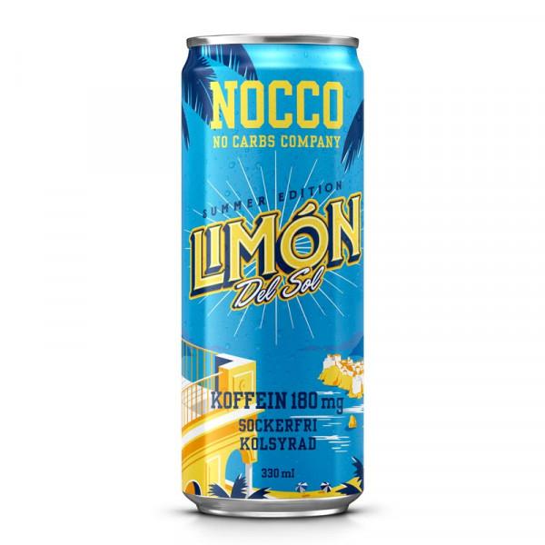 24 x NOCCO BCAA - Limón del Sol 330 ml