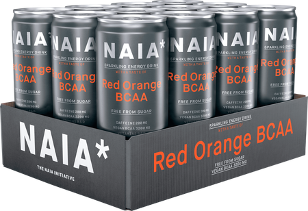 12 x Naia Sparkling Energy BCAA - Red Orange 330 ml