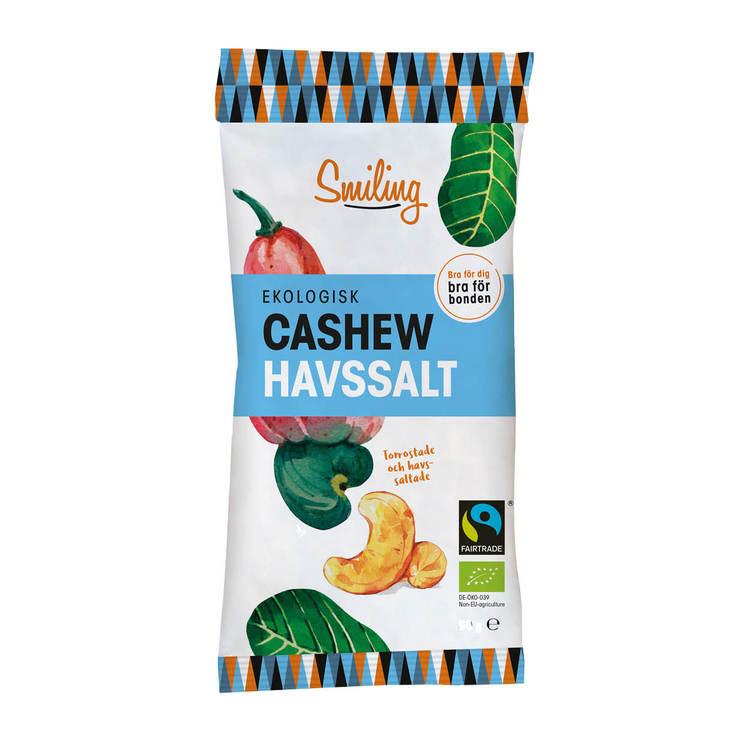 20 x Smiling Cashew - Havssalt 50 g