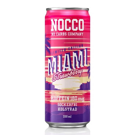 24 x NOCCO BCAA - Miami 330 ml