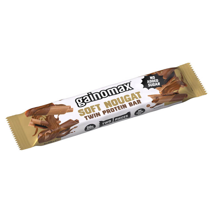 15 x Gainomax Twin Protein Bar - Soft Nougat 50 g