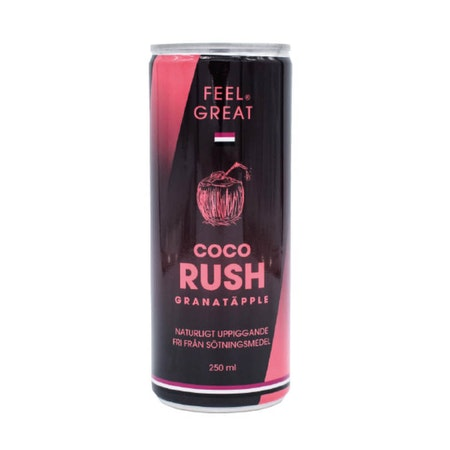 "12 X Feel Great Coco ""Rush"" - Granatäpple 250 ml"