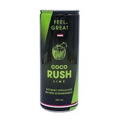 "12 X Feel Great Coco ""Rush"" - Lime 250 ml"