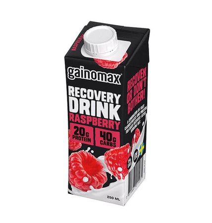 16 x Gainomax Recovery Drink - Raspberry 250 ml