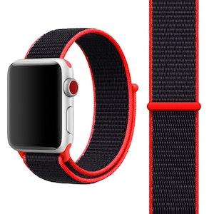 42 & 44 mm armband för Apple Watch i nylon (Röd)
