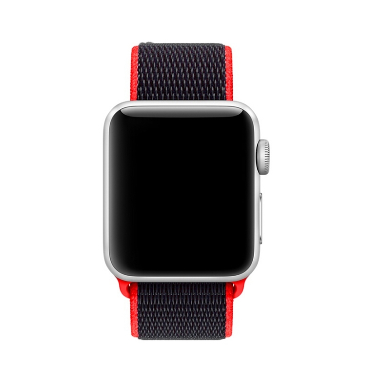 42 & 44 mm armband för Apple Watch i nylon (Röd)