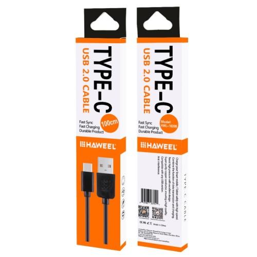 1m USB-C / Typ-C till USB 2.0 Data och Laddningskabel