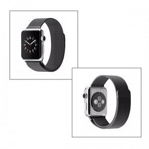 42 mm Milanese Loop Magnetiskt armband (svart)