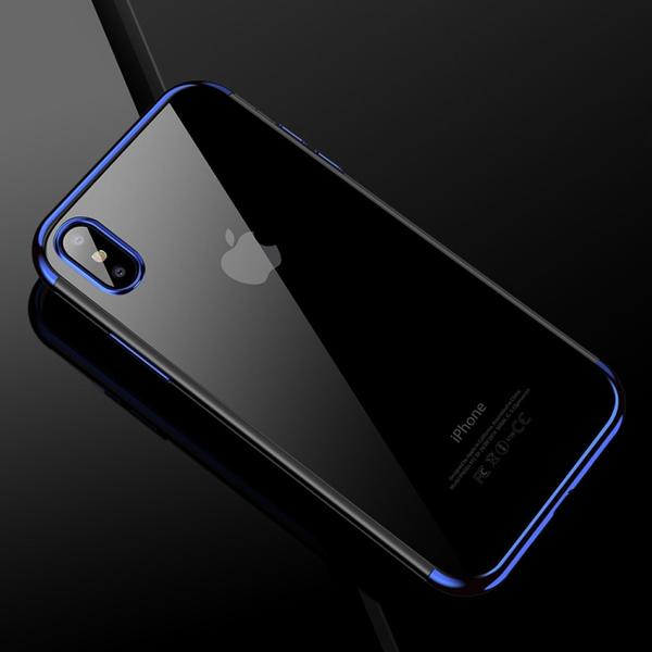 Blått silikonskydd till iPhone X / XS