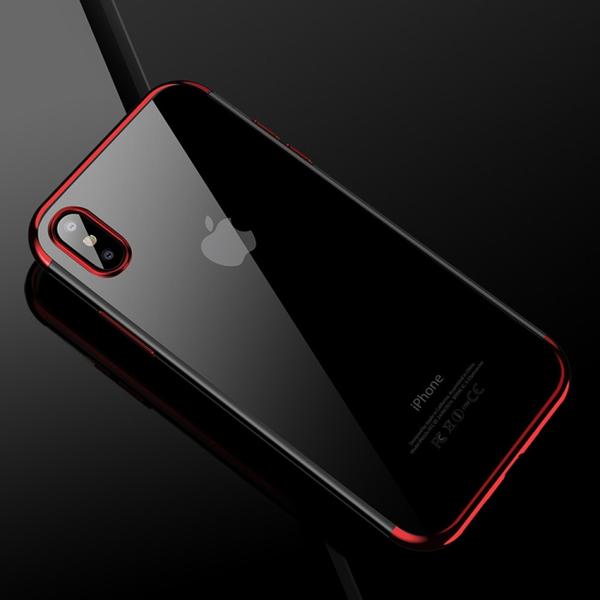 Rött silikonskydd till iPhone X / XS
