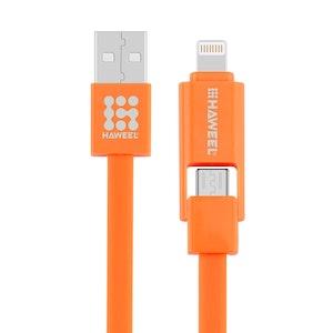 2 i 1 Micro USB 8 Pin till USB Data Synk och Laddningskabel