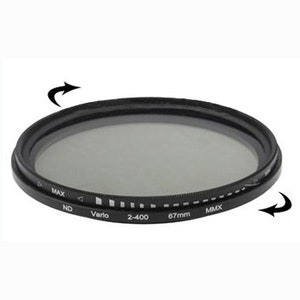 67 mm ND-Filter variabelt mellan 2-400