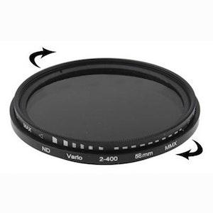 58 mm ND-Filter variabelt mellan 2-400
