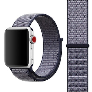 42 & 44 mm armband för Apple Watch i nylon (Navy blue)