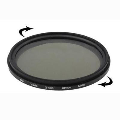 62 mm ND-Filter variabelt mellan 2-400