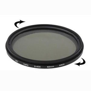 62 mm ND-Filter variabelt mellan 2-400