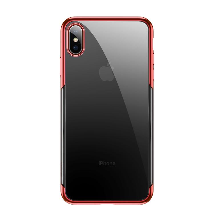 Ultratunnt skydd till iPhone XS Max Röd