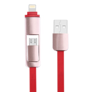 2 i 1, 8 Pin & Micro USB laddnings kabel