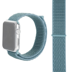42 & 44 mm armband för Apple Watch i nylon (Lake blue)
