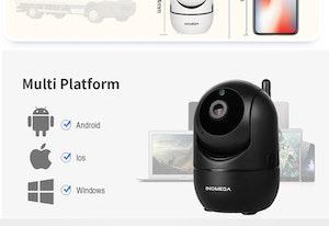 Intelligent Övervakningskamera 1080P med larmfunktion (Notiser)