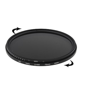 72 mm ND-Filter Gråfilter variabelt mellan 2-400