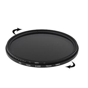 72 mm ND-Filter Gråfilter variabelt mellan 2-400