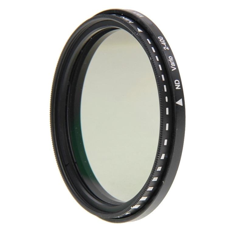 55 mm ND-Filter Gråfilter variabelt