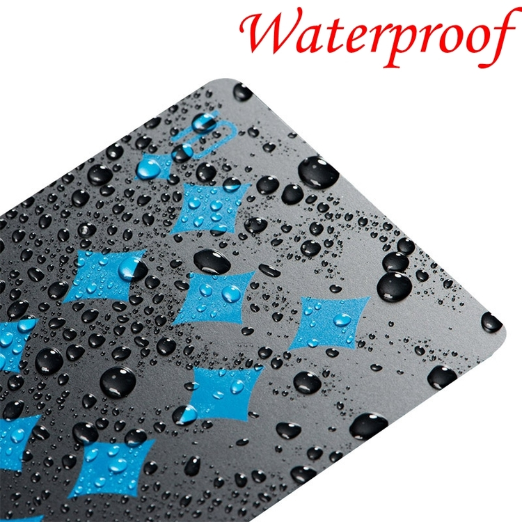 Svarta plastkort, Blå/vita och vattentäta poker