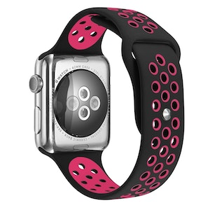 42/44 mm sportarmband för Apple Watch Svart/Rosa