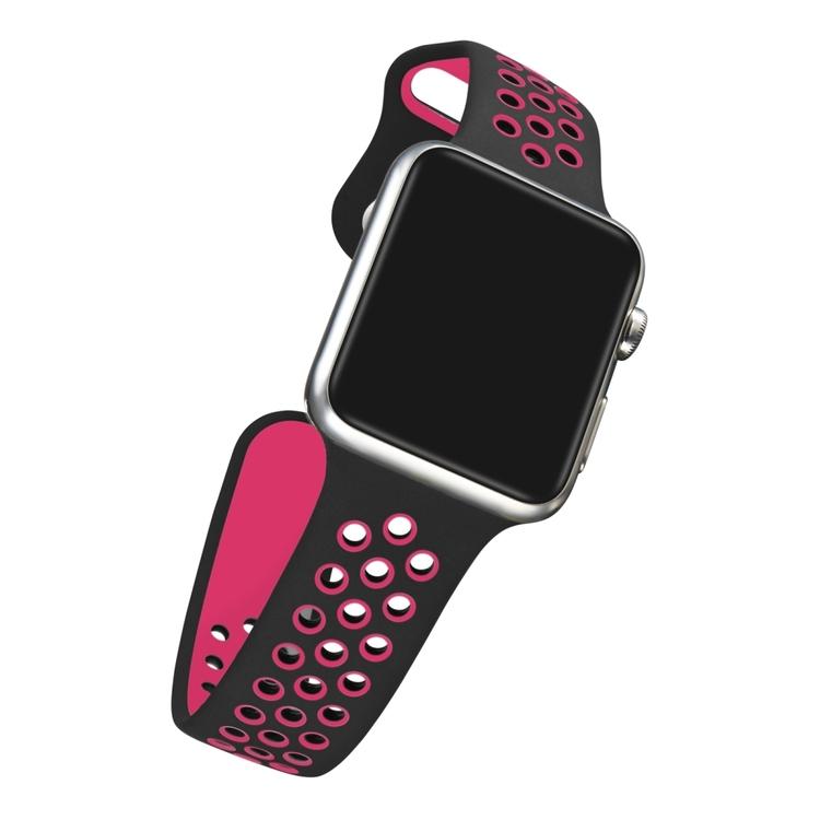 42 mm sportarmband för Apple Watch Svart Rosa