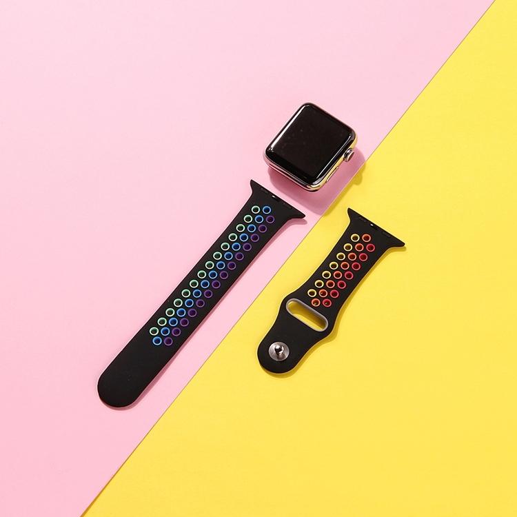 42/44 mm sportarmband för Apple Watch Regnbågsfärg