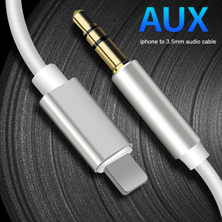 8 Pin till 3.5mm AUX Audio Adapter Kabel