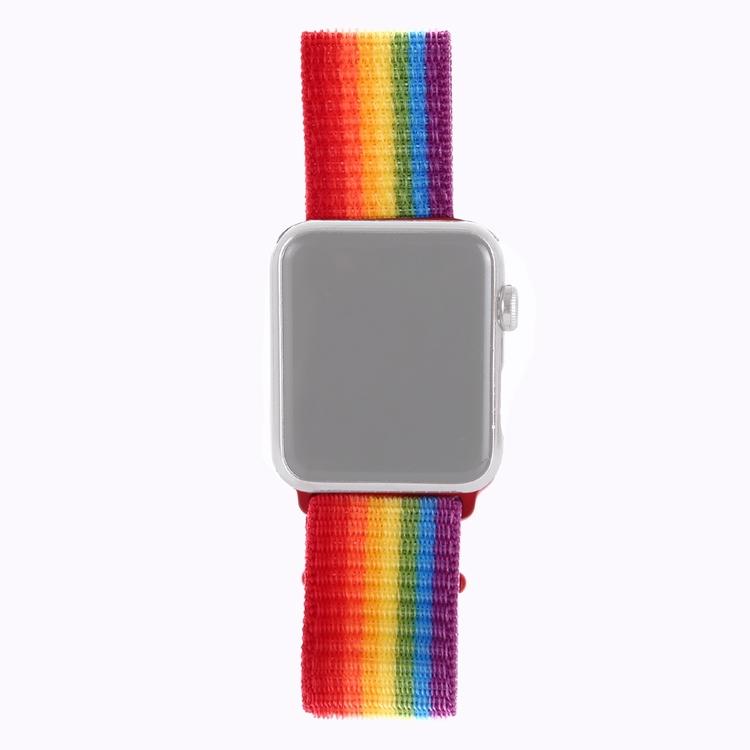 38 & 40 mm armband för Apple Watch i nylon (Regnbåge)